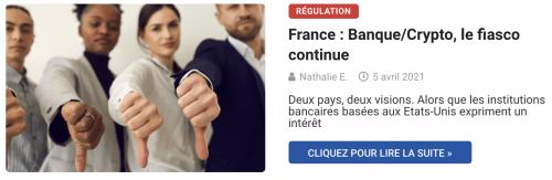 France : Banque/Crypto, le fiasco continue