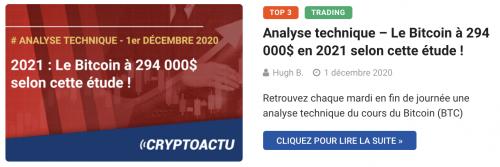 Analyse technique : le Bitcoin à 294 000$ selon cette étude0