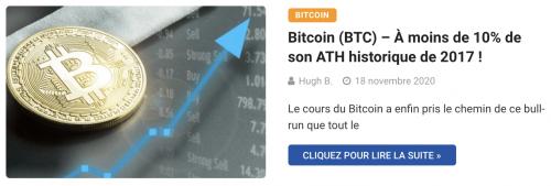 Bitcoin hausse ATH