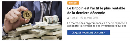 Le Bitcoin est l'actif le plus rentable de la dernière décennie