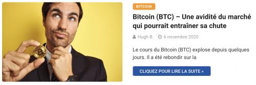 Bitcoin, l'avidité du marché pourrait entraîner sa chute