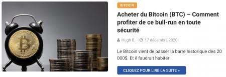 Acheter du Bitcoin (BTC) – Comment profiter de ce bull-run en toute sécurité