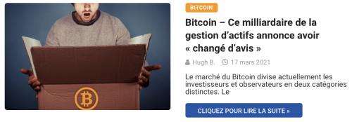 Bitcoin – Ce milliardaire de la gestion d'actifs annonce avoir « changé d'avis »
