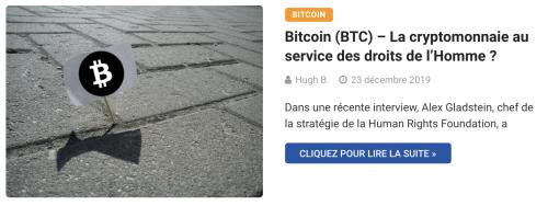 Bitcoin (BTC) – La cryptomonnaie au service des droits de l'Homme ?