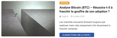 Le Bitcoin face au gouffre de son adoption