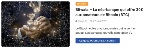 Bitwala néo-banque Bitcoin