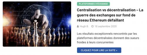 Guerre exchanges décentralisés vs centralisés