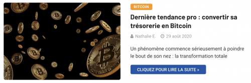 Convertir sa trésorerie en Bitcoin
