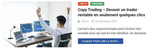 Copy Trading – Devenir un trader rentable en seulement quelques clics