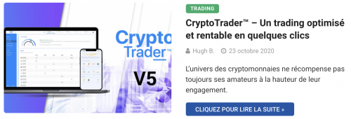 Application de trading CryptoTrader