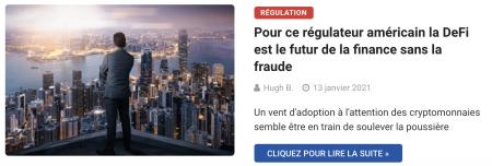 Pour ce régulateur américain la DeFi est le futur de la finance sans la fraude