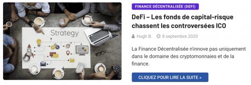 La DeFi délaisse les ICO pour les capital risque