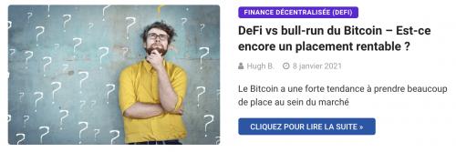 DeFi vs bull-run du Bitcoin – Est-ce encore un placement rentable ?