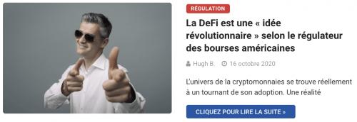 La DeFi est une « idée révolutionnaire » selon le régulateur des bourses américaines