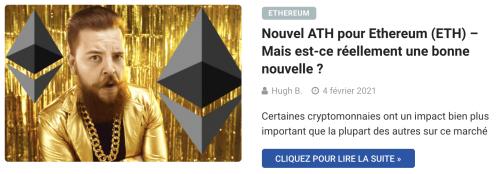 Nouvel ATH pour Ethereum (ETH) – Mais est-ce réellement une bonne nouvelle ?