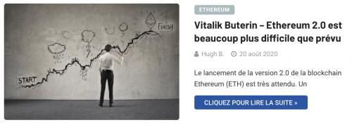 Ethereum 2.0 plus difficile que prévu