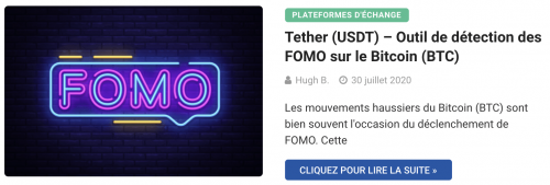 Tether (USDT) – Outil de détection des FOMO sur le Bitcoin (BTC)