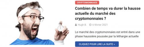 Combien de temps va durer la hausse actuelle du marché des cryptomonnaies ?