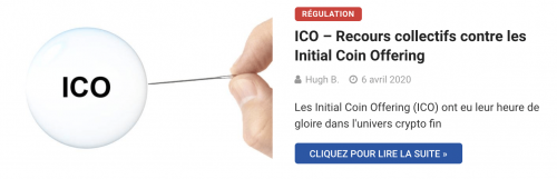 Régulation et ICO crypto