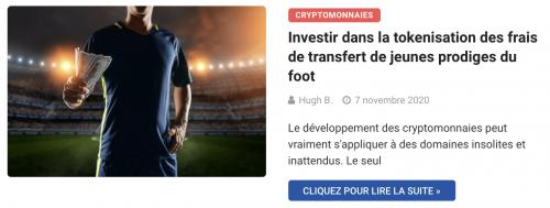 Investir dans la tokenisation des frais de transfert de jeunes prodiges du foot