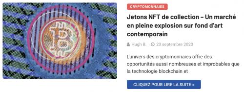 Art numérique et jetons NFT