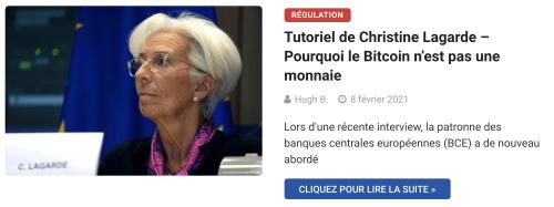 Tutoriel de Christine Lagarde – Pourquoi le Bitcoin n'est pas une monnaie