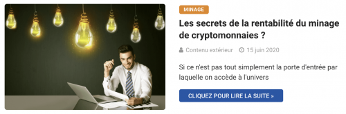 Les secrets de la rentabilité du minage de cryptomonnaies ?