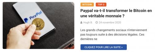 Paypal va-t-il transformer le Bitcoin en une véritable monnaie ?