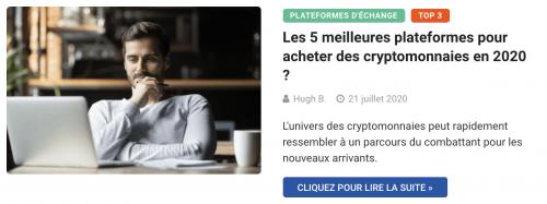 Les 5 meilleures exchanges de cryptomonnaies