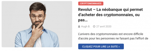 Revolut néobanque crypto ?