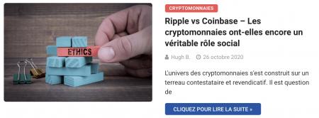 Ripple vs Coinbase – Les cryptomonnaies ont-elles encore un véritable rôle social