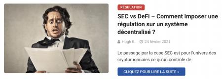 SEC vs DeFi – Comment imposer une régulation sur un système décentralisé ?