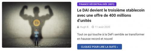 L'offre de DAI atteint les 400 millions