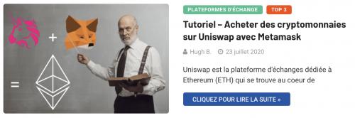 Utiliser Uniswap avec MetaMask