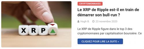 Le XRP de Ripple enregistre une forte hausse