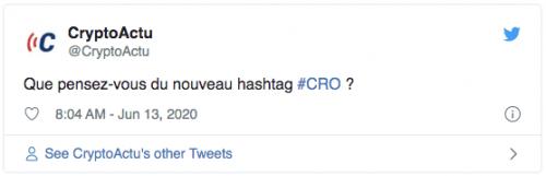Nouveau hashtag #CRO sur Twitter