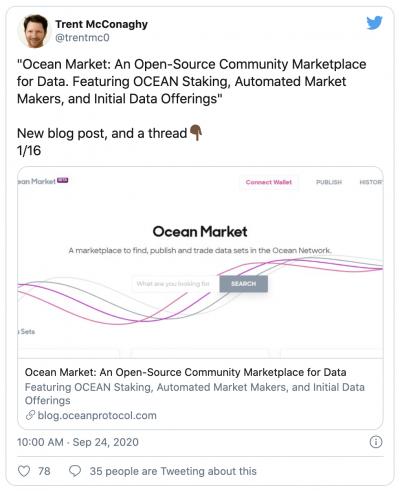Ocean protocol initie la vente de données tokenisées