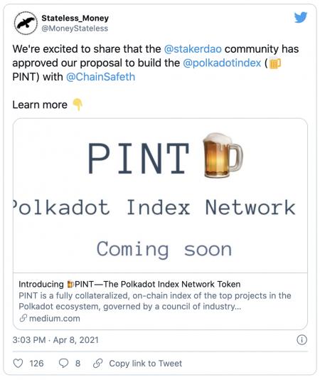 PINT - Un index Polkadot pour prendre position sur ses principaux projets