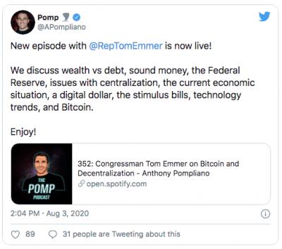 Un membre du Congrès américain défend le Bitcoin
