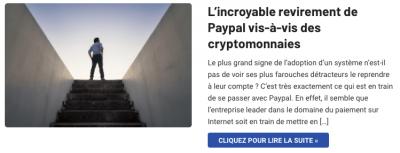 Paypal se met à la cryptomonnaie et Bitcoin