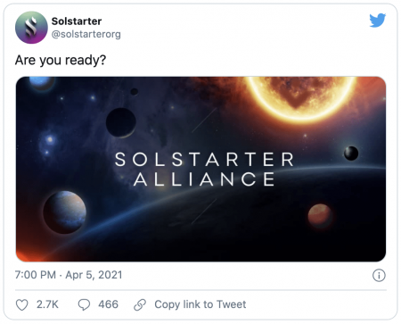 Solana lance la plateforme dédiée aux IDO Solstarter