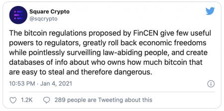 Square et les cryptomonnaies vs FinCEN