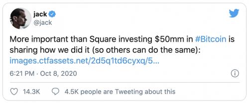 Square investi dans le Bitcoin