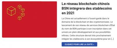 Blockchain Chine intègrera les stablecoins