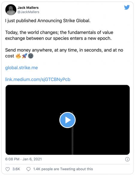 Réseau Strike Global sur le Bitcoin