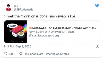 Migration de SushiSwap vers Uniswap