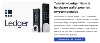 Tutoriel Ledger
