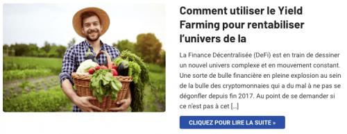 Le Yield Farming de la DeFi