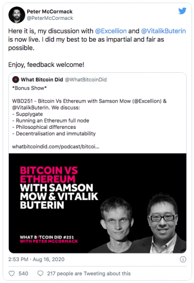 Vitalik Buterin explique que Ethereum 2.0 est plus difficile que prévu