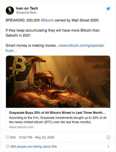 Wal Street aura plus de Bitcoin que Satoshi en 2021